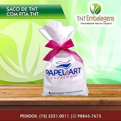 SACOS DE TNT PARA PRESENTE COM FITA CETIM - (COM LATERAL) - TNT EMBALAGENS
