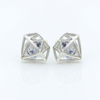 Brinco Masculino Diamante 3D - PAR ECLUIR