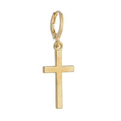 Brinco Masculino Crucifixo Pingente  - 1 PEÇA (Não é o par)