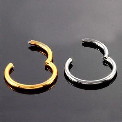 Piercing / Brinco Masculino Argola Sem Fim -1.6mm Espessura - Par
