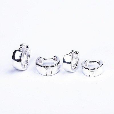 Piercing / Brinco Masculino de Prata 925 Argola Monet - PAR
