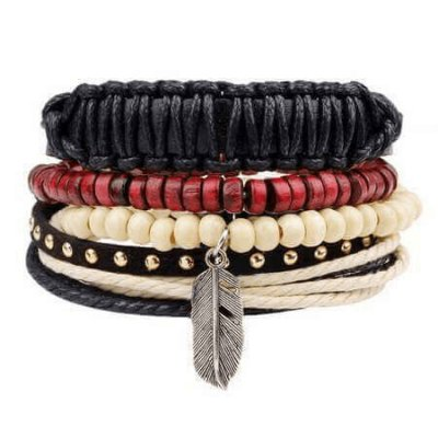 Mix de Pulseira Masculina Indian