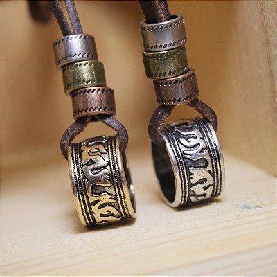 Cordão / Colar De Couro Masculino Ring