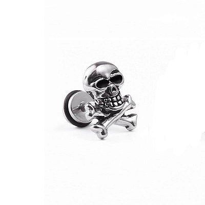 Brinco Masculino Caveira Crânio - 1 Peça - Não é o PAR