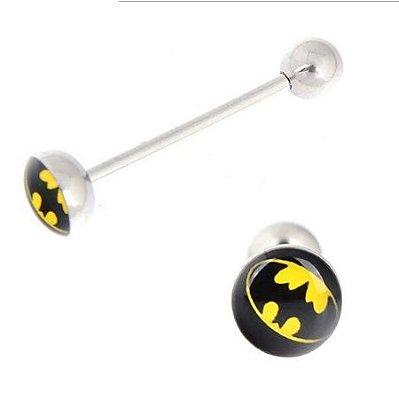 Piercing de língua Batman
