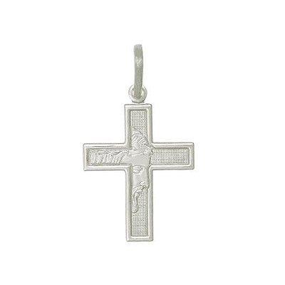 Pingente de Prata Masculino Crucifixo Cristo
