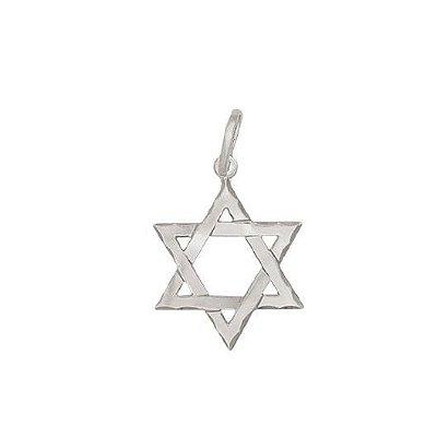 Pingente de Prata 925 Masculino Estrela de Davi