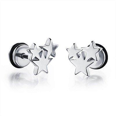 Brinco Masculino Estrelas - PAR