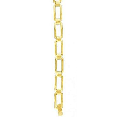Pulseiras De Ouro Masculina Retângulos Vazados  Folheado 18k