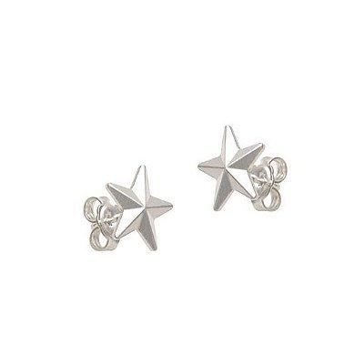 Brinco Masculino Estrela Pátria (Prata 925 ou Folheado Ouro 18k) - PAR