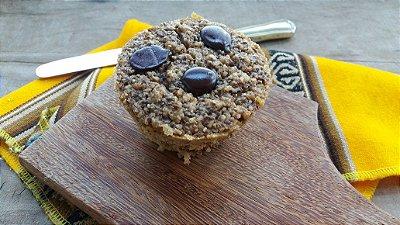 Muffin Safadão com Chocolate 53% Cacau, Chia e Amendoim - 105g - Pacote com 6 und