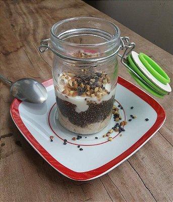 Overnight de Whey Safadão com Chocolate Belga  e Amendoim - 80g