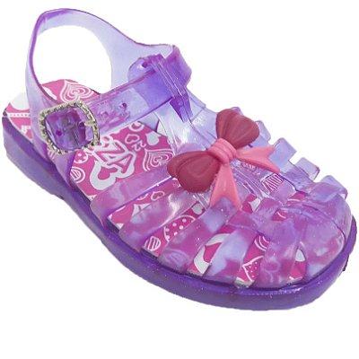 Sandália Papete Glitter Flexível Lindeza Kiko E Kuka Menina