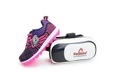 Tênis Masculino e Feminino Com Óculos de Realidade Virtual 3D Botinho Infantil Dia das Crianças