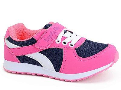 Tênis Infantil Feminino Juvenil Rosa Pink Menina Botinho Escolhar Casual Marinho Sintético Botinho 661
