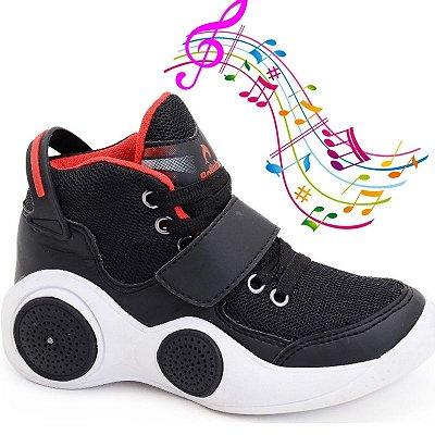 Tênis Musical Botinho Infantil Conexão Bluetooth Tênis com Som Lançamento Lançamento Exclusivo