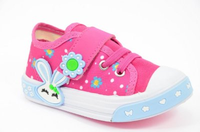 Tênis Infantil Bebê Feminino Pink Coelhinho Azul Botinho Espelho Meu 840da