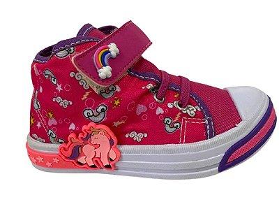 Botinha Casual Infantil Feminina Kids Pink Espelho Meu B220A