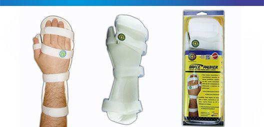 Tala de PVC p/ punhos, mãos e dedos - uni - Esquerda - Ortho Pauher