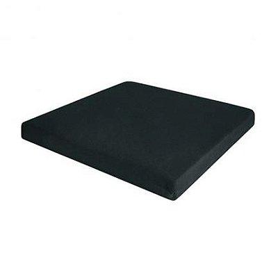 Almofada confort seat - perfil baixo - preta - quadrada - genere latéx - Perfetto
