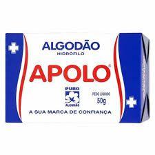 Algodão Hidrófilo 50g Caixinha - Apolo