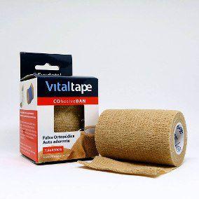 Atadura tipo coban 7,5cm x 4,5M - Bege - Vitaltape