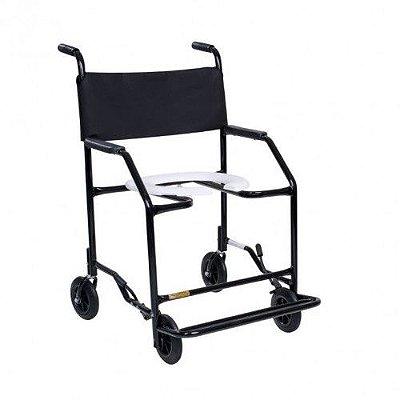 Cadeira de Banho -Preta SEMI-OBESO100KG-(CDS 201)