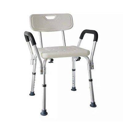 Cadeira retangular com encosto e braço - D3 - Dellamed