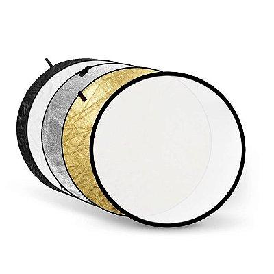 Rebatedor Circular 5 em 1 Dobrável Greika - Tamanho Ø 110cm