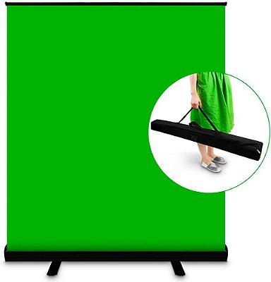Fundo Portátil Greenscreen Verde Chroma Suporte Retrátil