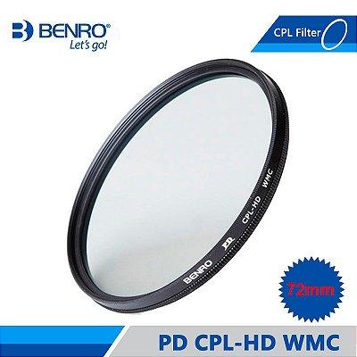 Filtro Benro Polarizador CPL HD WMC 72mm