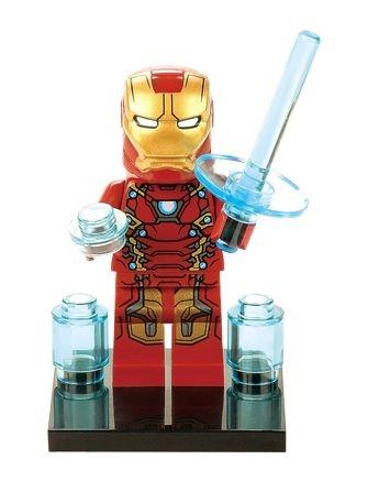 Mini Figura Compatível Lego Homem de Ferro Marvel (Edição Especial)