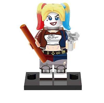 Mini Figura Compatível Lego Arlequina Harley Quinn DC Comics