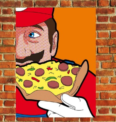 Quadro Decorativo Mdf - Mario Pizza (20x30)