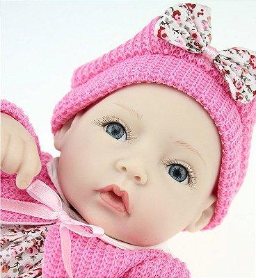 Mini Bebê Reborn de Silicone Princesinha