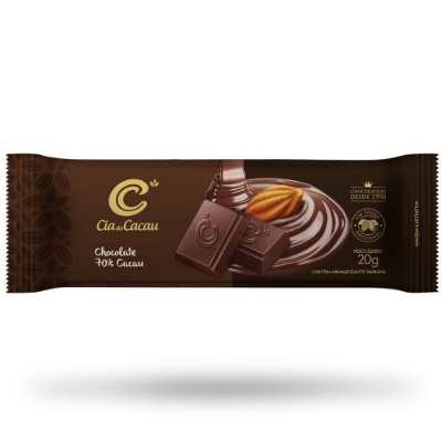 BARRA CHOCOLATE MEIO AMARGO 70% CIA DO CACAU 20g