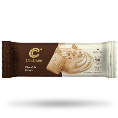 BARRINHA CIA CHOCOLATE  BRANCO 20g