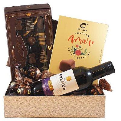 CESTA VINHO & CHOCOLATES