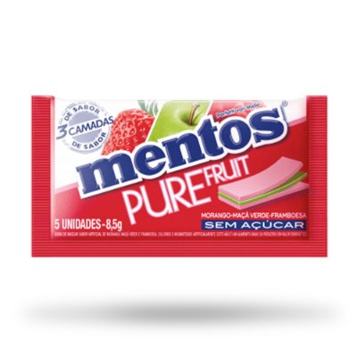 MENTOS CHICLETE PURE 3L FRUIT 8,5g