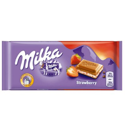 MILKA BARRA STRAWBERRY 100g