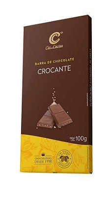 BARRA CHOCOLATE COM FLOCOS CROCANTE CIA DO CACAU 100g