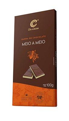 BARRA CHOCOLATE MEIO A MEIO CIA DO CACAU 100g