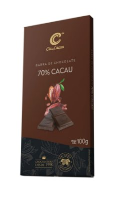 BARRA CHOCOLATE 70% CIA DO CACAU 100g