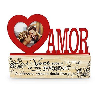 ZENIR PORTA RETRATO DE MADEIRA -AMOR
