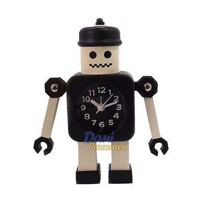 Relógio de Mesa Robô