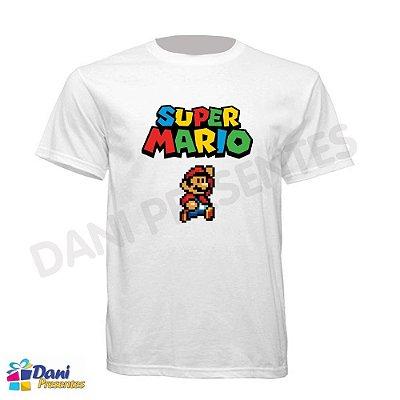 Camiseta Super Mario - Retrô - 100% Algodão