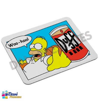 Mouse Pad Os Simpsons com Duff Beer