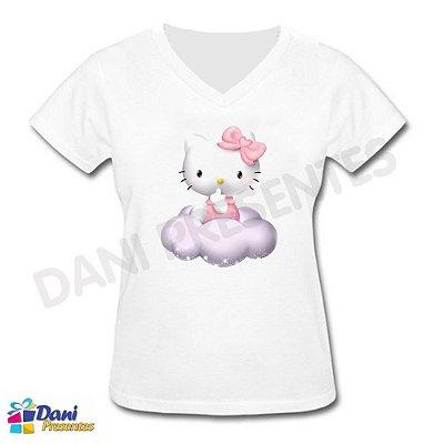 Baby Look Hello Kitty - 100% Algodão