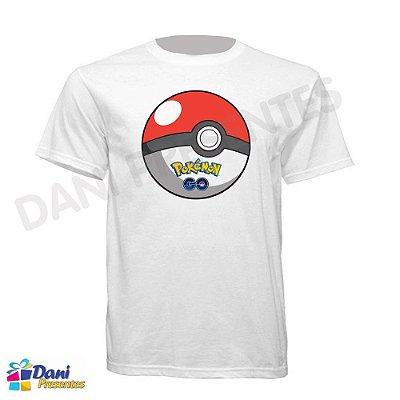 Camiseta Pokemon GO - Ball - 100% Algodão
