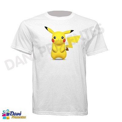 Camiseta Pokemon - Pikachu - 100% Algodão